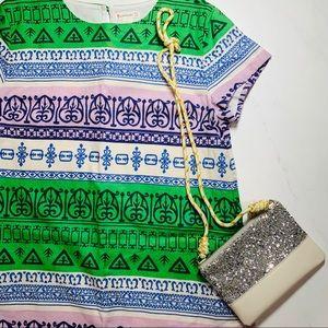Crewcuts Girls' Tribal pattern Shift Dress Sz 12
